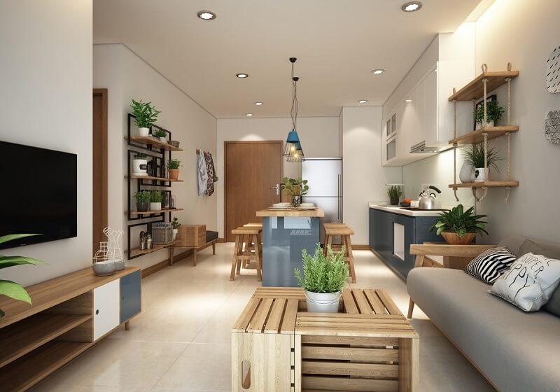 Dự án thiết kế thi công căn hộ một phòng ngủ cho cặp đôi - CBS Việt Nam