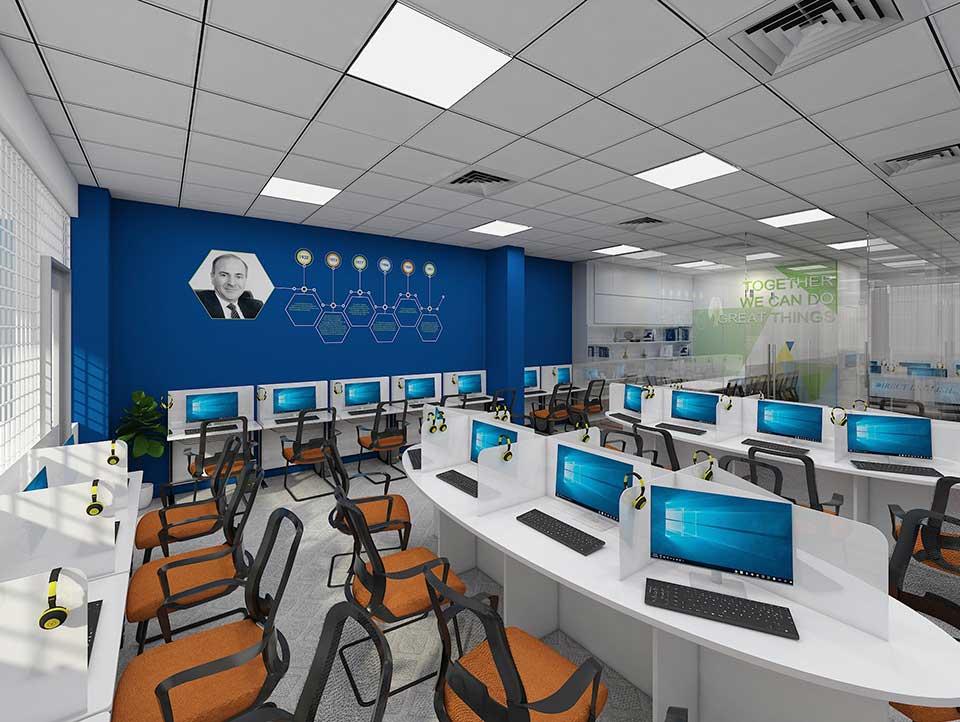 thiết kế trung tâm anh ngữ CBS Việt Nam